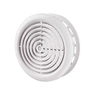Awenta DPR 125 Round Circle Cover 125, Wall and Ceiling Grille, White, 125mm