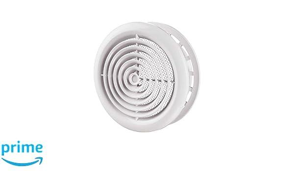 100 Blauberg UK DPR rond Cercle Coque Grilles de mur et plafond avec moustiquaire Blanc