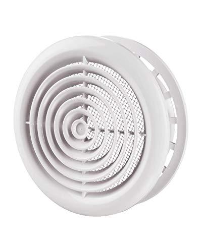 Blauberg UK DPR rund Kreis Cover 125, Wand und Decke Gitter, weiß, 125mm - Decke Lüftungsschlitze