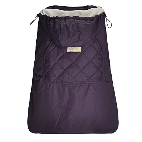 Bebamour Universal Baby Carrier Cover for Winter Warm Rain Cover (Dark Purple)