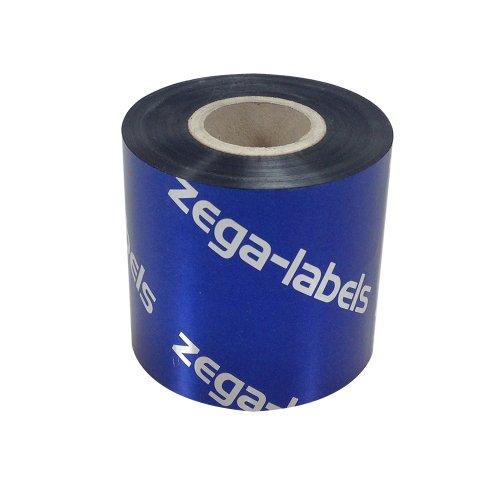 Preisvergleich Produktbild Thermotransfer Farbband schwarz 60 mm x 300 m - zega gold (Harz Kratzfest) - Farbseite AUSSEN - für Industriedrucker Zebra ZM400/ZM600/ZT220/ZT230/S4M/Z4M/Z6M/XI-Serie mit 1 Zoll Kern 25 mm - für Kuststoffetiketten Bedruckung (PE-Folie, PP-Folie, PET Polyesterfolie) mit höchster Kratz-/Abriebsfestigkeit