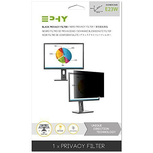 EPHY E23W Privacy Filter / Anti-Glare / Screen Protector for Laptop TFT Monitor Desktop PC LCD LED Screen (23
