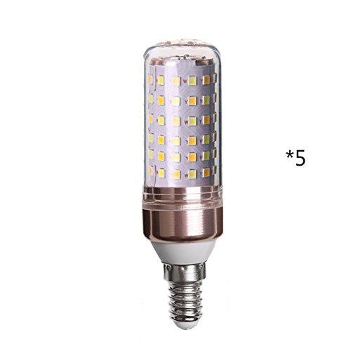 GYP LED Energiesparlampen, Mais Glühbirne Drei-Farben-Licht LED Energiesparlampen 16W Super Bright Home Birne Spiralbirnenlampen Lichtquelle E27, E14 Innenbeleuchtung im Freien Kronleuchter Lichtquelle kaufen ( größe : E14 )