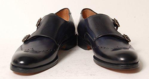 Antica Calzoleria Campana Schuhe | Mod. 1506 | Monkstrap | Kalbsleder | dunkelbraun, (dunkel-) blau oder schwarz (Dunkel-)blau