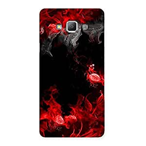 Neo World Red Flames Back Case Cover for Galaxy A7
