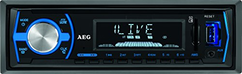 AEG AR 4030 BT/USB/CR Autoradio mit Bluetooth, USB und Card Reader AUX-IN, LCD-Display (blau beleuchtet), 4x 40 W, schwarz