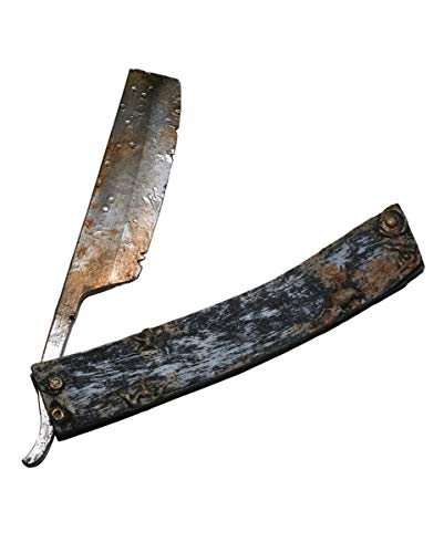 Horror-Shop Folterwerkzeug Rasiermesser als Halloween Deko & -