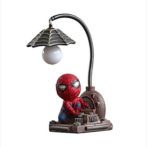Kinderzimmerbeleuchtung Cartoon Led Nachtlicht Spider-Man Tisch Nachtlicht Harz Lampen Kinder Schlafzimmer Bett Kinder Kreative Geschenke, 2