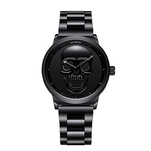 Relojes De Mujer Relojes De Pareja Calaveras De Personalidad Banda De Acero A Prueba De Agua. Relojes de Pulsera