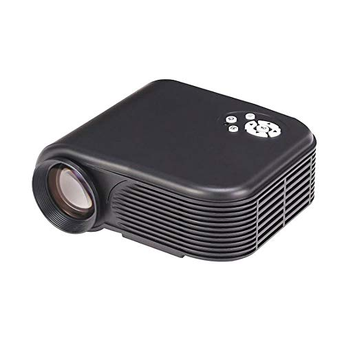 Tragbarer Projektor, Multimedia-Video-Projektor Home Cinema Support 1080P USB HDMI USB VGA AV SD für Home Entertainment Party und Spiele