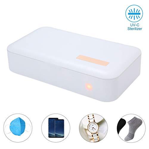 Desinfectante para teléfonos Inteligentes con luz Ultravioleta, esterilizador portátil para teléfonos...