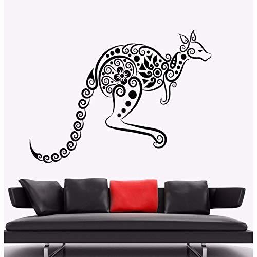 Fushoulu 57X42 Cm Wandaufkleber Känguru Tier Vinyl Wandtattoo Australien Ornament Wandkunst Wandhaupt Wohnzimmer Dekor Känguru Vinyl ()