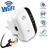 Rybozen WiFi Repeater WLAN Range Extender, 2.4GHz Wireless-N Ripetitore 300Mbps con Porta LAN/Access Point/WPS e Antenne Integrate