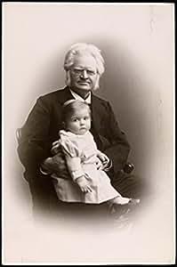POSTER Bjornstjerne Bjornson og barnebarnet Albert Bjornson-Langen 1900 Norway Wall Art Print A3 replica