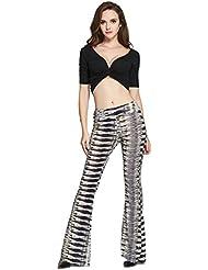 Good dress Multi - Color De Pantalones De Moda,Gray,S