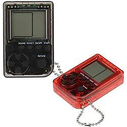 2 pcs Console de Jeu Portable Built-in JeuxGameboy Mini Cadeaux d'anniversaire Enfants Noël Retro Tetris Zero Ecran Classic Machines de Loisirs Pendentif Etudiants Porte-clés Pas Cher (A)