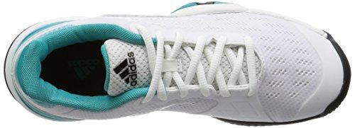 adidas Barricade 2016 Xj, Baskets Basses Mixte Bébé Multicolore - Blanco / Negro / Verde (Ftwbla / Negbas / Verimp)