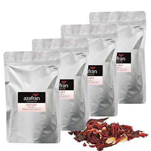 Azafran BIO Hibiskusblüten, Hibiskus ganz getrocknet, ideal als Hibiscus Tee 1kg