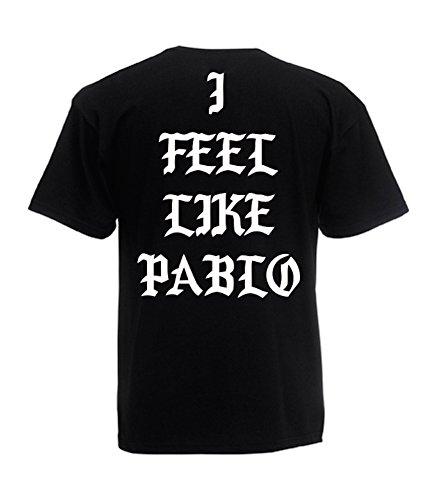 TRVPPY - T-Shirt Manches Courtes, Modèle I Feel Like Pablo - Homme, différentes Tailles et Couleurs