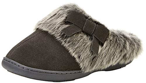 Isotoner Real Suede Mule Slippers, Pantoufles Femme