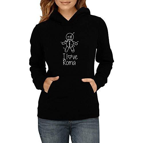 Idakoos I Love Roma Witchcraft Doll Damen Kapuzenpullover M (Love Roma Pullover I)