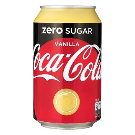 72 x Coca Cola Zero Vanilla cans dosen canettes latas lattine 0 33 L