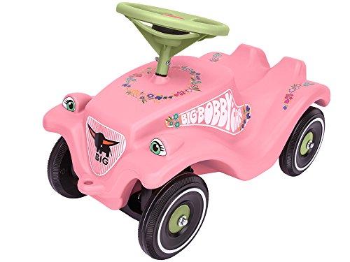 *BIG Spielwarenfabrik Big 800056110 – Bobby-Car-Classic Flower Kinderfahrzeug, Rosa*