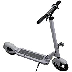 SmartGyro Viper Patín Scooter eléctrico, Unisex Adulto, Blanco, 8""