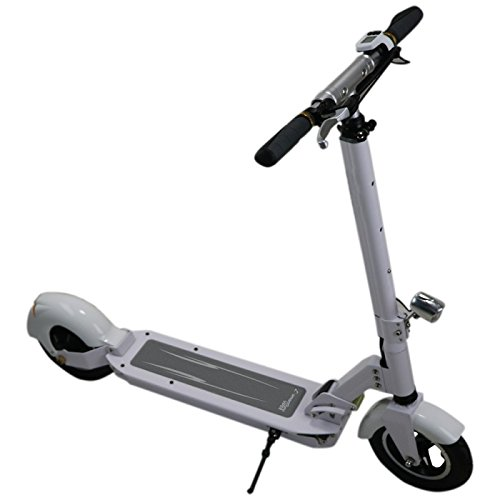 SmartGyro Viper Patín Scooter eléctrico, Unisex Adulto, Blanco, 8'