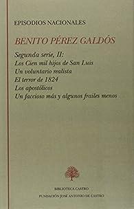 Benito Pérez galdos, episodios nacionales, segunda serie, tomo II par  Benito Pérez Galdós