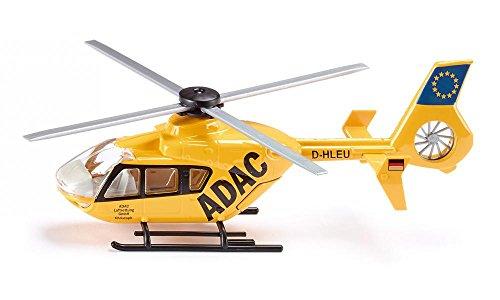 SIKU 2539, Rettungshubschauber, 1:55, Metall/Kunststoff, Gelb, Bewegliche Rotoren