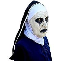 Espeluznante Máscara Y Cabello Jersey De Halloween Fiesta De Terror Cosplay Látex Scary Monja Horror Fantasma