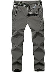 Zhhlinyuan Mens Breathable Soft Shell Windbreaker Waterproof Outdoor Mountain Trousers Sport Pants Size:XL-8XL