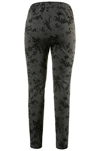 Ulla Popken Femme Grandes tailles Pantalon jersey 707124 gris chiné