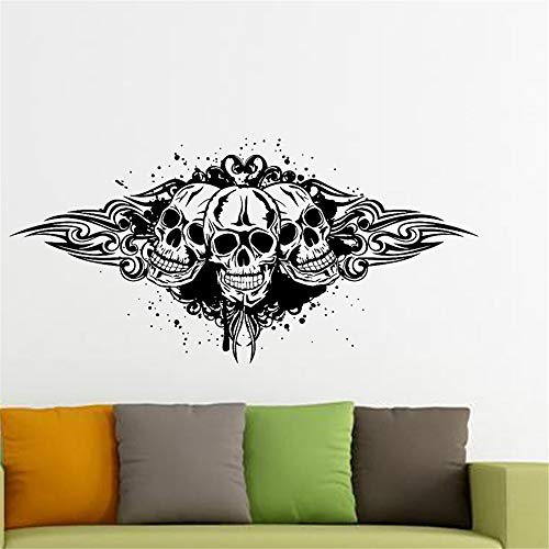 Wandtattoo Wohnzimmer Skull Halloween Pirate Sticker Punk Death Decal Devil Poster Name Car Art Parede Decor for living room bedroom Rosa Punk Pirate