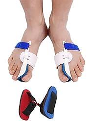 Bunion Corrector, 2 stücke Einstellbare Klettverschluss Bunion Splint Schutzhülsen kit Toe Glätteisen für Hallux Valgus Schneider Bunion Hammer Toe Schmerzlinderung Beinhaltet Big Toe Strap