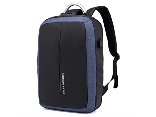 HOUHOUNNPO Perfect Dual Use Night Anti-Theft Laptop Computer Backpack with USB Charging Port for Camping Hiking Business Man Women-Blue