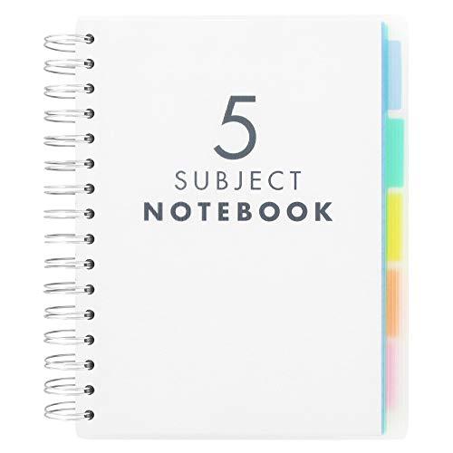 Paperchase - 5 quaderni con divisori per materie, formato a5
