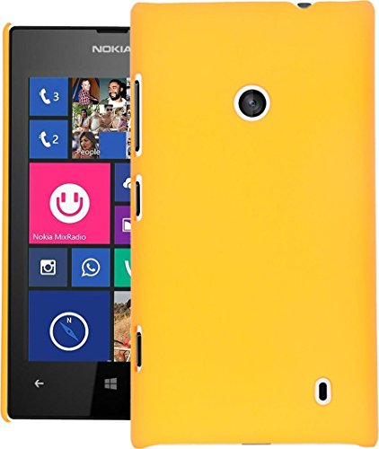 Lumia 525 Case Cock Ultra Thin Rubberized Matte Hard Case Back Cover For Nokia Lumia 525 (Yellow)  available at amazon for Rs.199