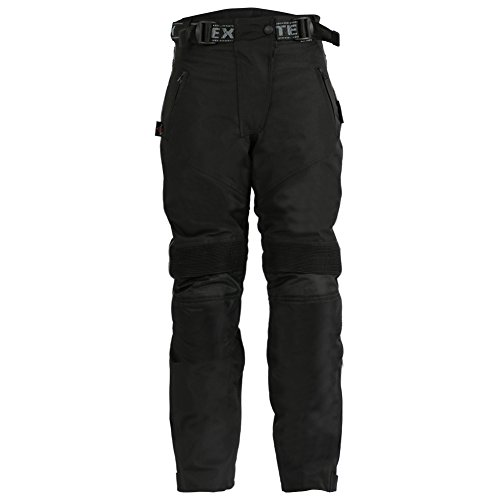 Texpeed Women s Waterproof CE Armoured Cordura Motorcycle Trousers - Black 85766cafa