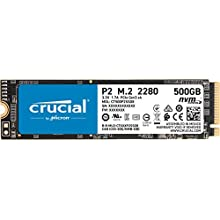 Crucial CT500P2SSD8 SSD Interne P2 500Go (3D NAND, NVMe, PCIe, M.2)
