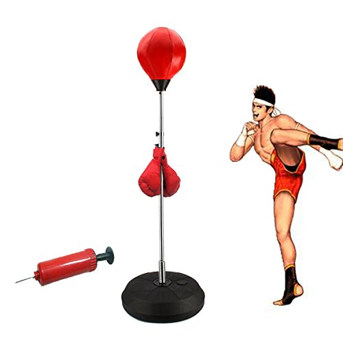 Standing Punching Bag Adult Punching Ball Speed Bag Boxing Set with Boxing Gloves and Pump