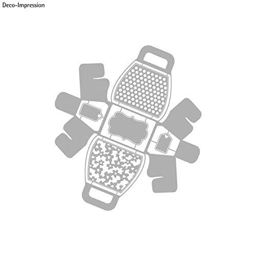 CREATIV DISCOUNT® NEU Stanzschablone: Handbag Gift Box, 21,1x23,4cm