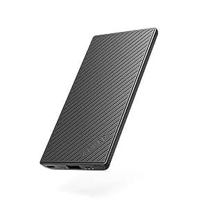 Anker PowerCore Slim 5000 mAh Batterie externe fine avec PowerIQ Powerbank pour Apple et Android conçue pour tenir dans la poche