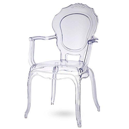 Damiware Broxster Silla | Brocante y Moderno Silla | Material Transparente | Diseño único...