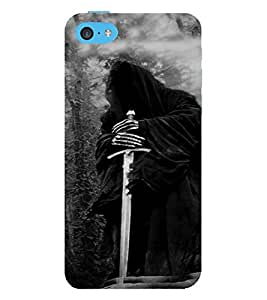 PrintVisa Warrior Design Cool Ob 3D Hard Polycarbonate Designer Back Case Cover for Apple iPhone 5C