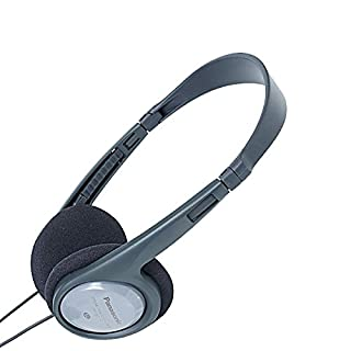Panasonic RP-HT090E-H Kopfhörer (5 m Kabel, Lautstärkeregler, besonders leicht und angenehm zu tragen) grau