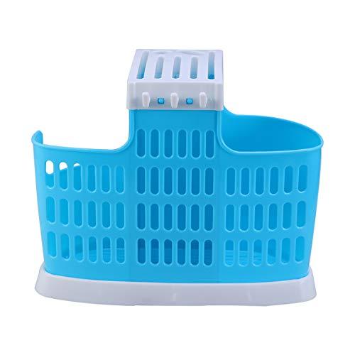 UPKOCH Küchenutensilien-Organizer Besteckhalter mit Löchsockel Haus Messerablage Geschirr Ablage Arbeitsplatte Aufbewahrung für Küche, Polypropylen, himmelblau/blau, 24 x 13.5 x 11cm.