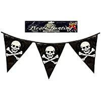 HENBRANDT 12 x Pirate Bunting Triangular Pennants Flags 12ft PVC