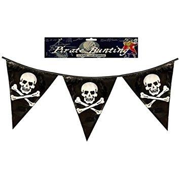 Henbrandt 12x Piraten Wimpelkette dreieckig Fähnchen Flaggen 12ft ()